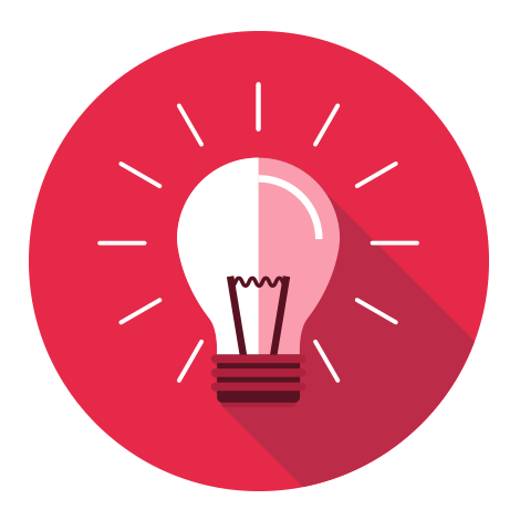 Light bulb icon for the success story